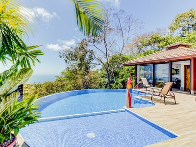 Photo for Hillside home w/ amazing ocean view, pool, deck & outdoor kitchen/showers!