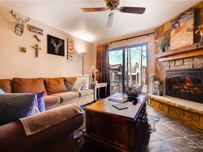 Photo for Beautiful Mountain Condo w/Rock Fireplace & Private Balcony!