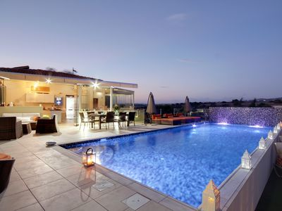 Photo for Stunning Villa with fab Private Heated Pool on very large plot!
