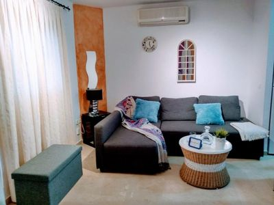 Photo for Lagar apartment in Casco Antiguo with air conditioning & private terrace.