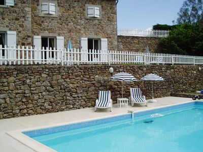 Photo for Independent stone house with private pool south calm
