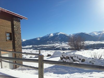 Photo for Mountain chalet with views (south facing) with Internet
