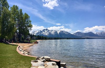 Photo for Waterfront townhome in Tahoe Keyes with private dock and views of Heavenly