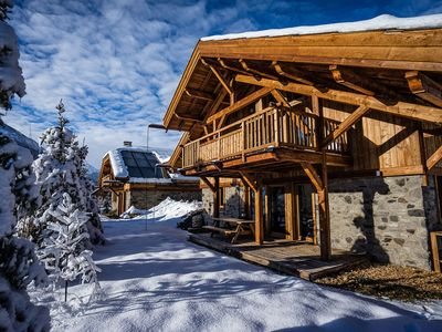 Photo for Luxury chalet rental Twin, 11 pers. with indoor pool and sauna
