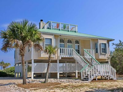 """Photo for Ready to rent now! FREE BEACH GEAR! Gulf Beaches, Pets OK, Screened Porch, Fireplace, 3BR/2BA """"Southern Belle"""""""