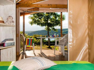 Photo for Camping Domaine des Ormes ***** - 3-room Ecolodge Tent 4/5 people Without Sanitary