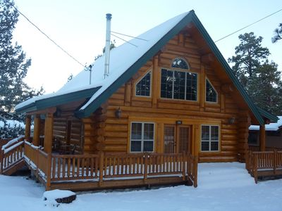 Photo for New 3 Br, 2 Ba Full Log Cabin, Sleeps 8-10