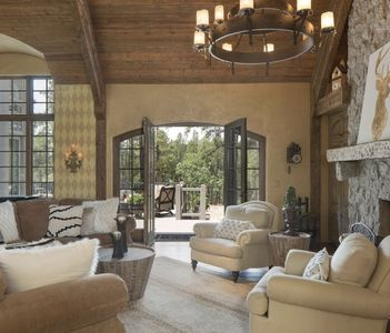Modern Farmhouse interior with indoor/outdoor living spaces