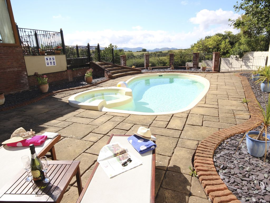 Large Family Home With Outdoor Heated Swimming Pool Gardens Spectacular Views Colwyn Bay