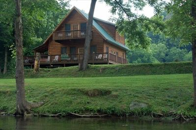 View of the 'Fishin Hole' cabin from the 'Little River' !