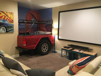 Photo for Book Before Jan 31, Save 20% Giant Theater Room. Great Place to Gather!