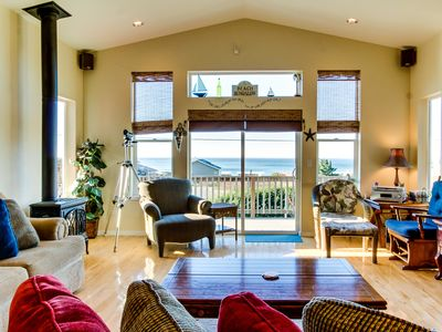 Photo for Incredible oceanview home with private hot tub & outdoor firepit await