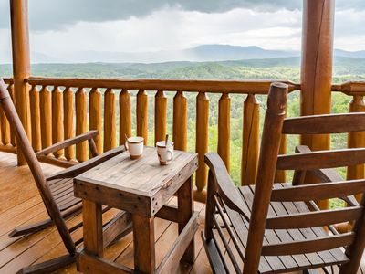 Photo for A Starry Starry Nite- Luxury furnishings, Mt. LeConte views, Hot Tub, Pool Table
