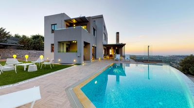 Photo for Panthea Luxury Seaview Villa With Heated Pool, Chania Crete