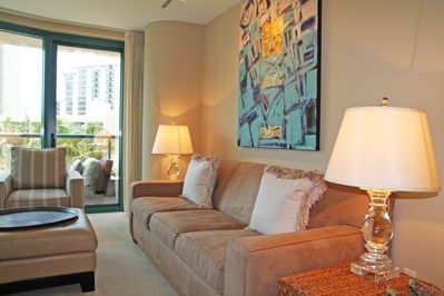 living area with step-out lanai