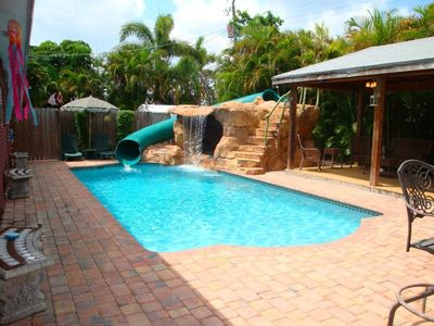 Photo for Beautiful Tropical Pool Home with Your Own Private Water Park and Pavillion