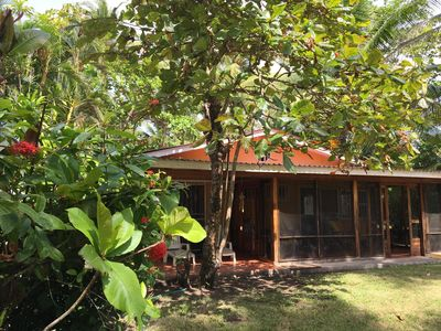 Photo for Cozy Beachfront Eco Bungalow! Cottage de los Palmas
