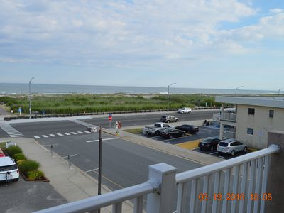 Photo for Ocean Front steps away from the Beach and Boardwalk