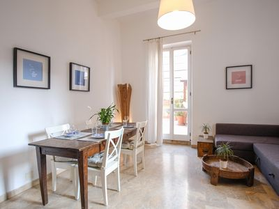 Photo for Apartment with terrace - WiFi - Historic Center - COLOSSEUM Area