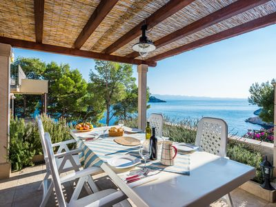 Photo for Stunning Sea-View Balcony, Swimming Pool, 25m from Private Beach, Private Parkin