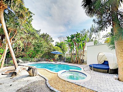 Photo for Sanibel Island 4BR Home w/ Private Pool & Spa - Walk to Shops &  Dining