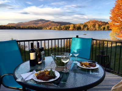 Lakefront property with a magnificient view of the mountain of Mont Tremblant