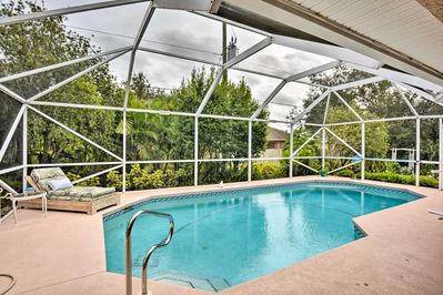 The 3-bedroom, 2-bathroom home features a private heated pool.