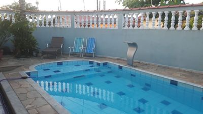 Photo for HOUSE IN PERUÍBE COAST WITH POOL 300 METERS FROM THE BEACH