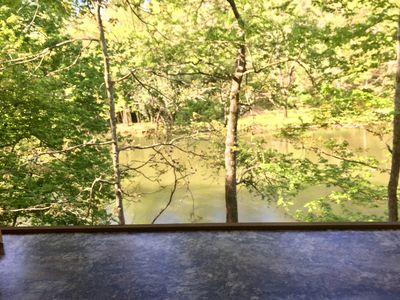 Photo for Charming & Romantic Waterfront Cabin On The Oconaluftee River