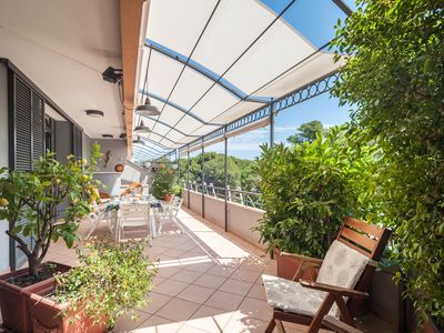 Photo for On the beach overlooking the pine forest - Apartment Parco dei Pini