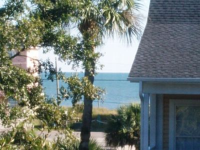 Beach water view from house!