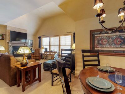 Photo for NEW LISTING! Elegant condo w/shared pool & hot tub, great location-near gondola