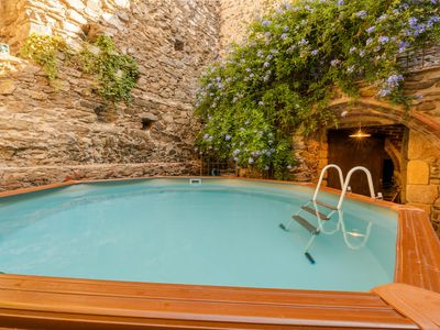 Photo for Village house between the walls of the old Espolla Castle. 5 rooms