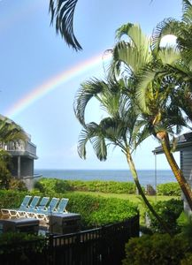 View From Lanai with a Maui Rainbow