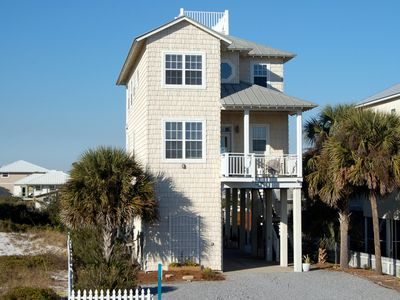 Photo for Large Gulf View 4 Bedroom, 3 1/2 Bath Home~Steps to Beach~Family Friendly~Boats Welcome