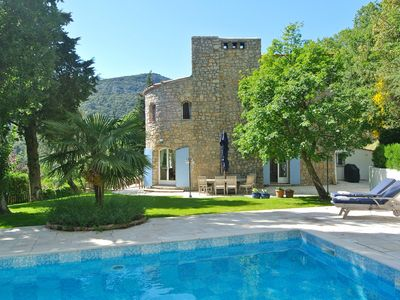 Photo for Stylish stone Mas set in the hills between the 2 beautiful hilltop villages