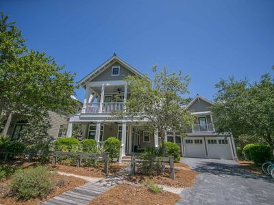 Photo for PRIVATE POOL | OUTDOOR KITCHEN | 5 BIKES | WaterColor | 'Beach Haven' 5 BR w/ Carriage Slps 13