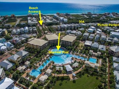 Photo for Perfectly Located to the Seacrest Beach Lagoon Pool Prime location, easy access!