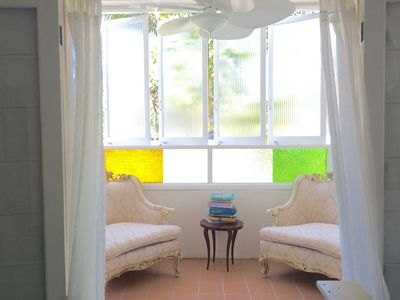 the sunroom at the Artists' Cottage