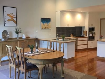 Dining area and a spacious kitchen