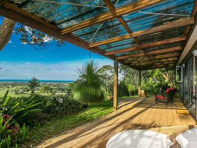 private cottage with views and covered verandah and BBQ