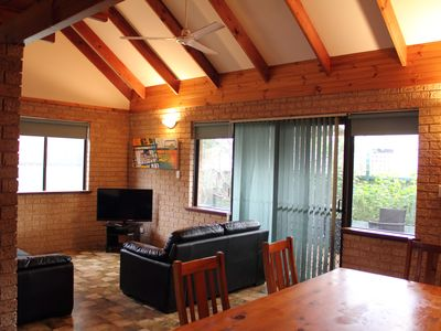 Loft chalet open plan living/dining areas