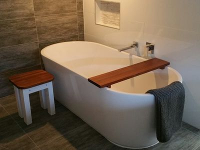 Relax in the full size bath
