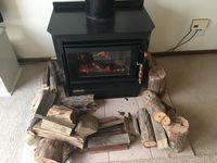 wood fire (also split system heater and cooler)