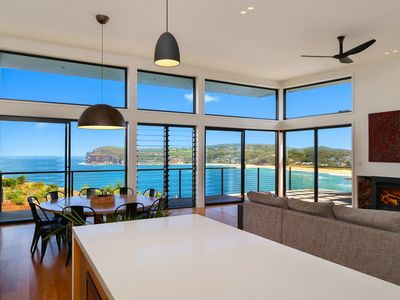Top Floor Kitchen area looking out over beach and ocean