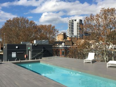 Stunning rooftop pool and entertaining area