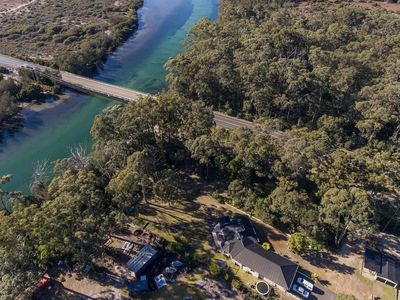 Aerial Photo of Property- Direct Access out back gate to Tomakin River