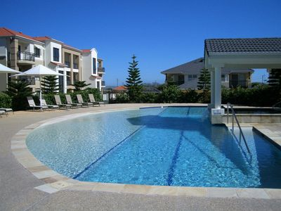 One of two pools ,lap pool and heated spa