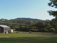 The View of Mt Cameron at Tassie Tiger Lodge