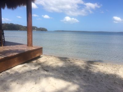 Own private beach with beautiful clean water